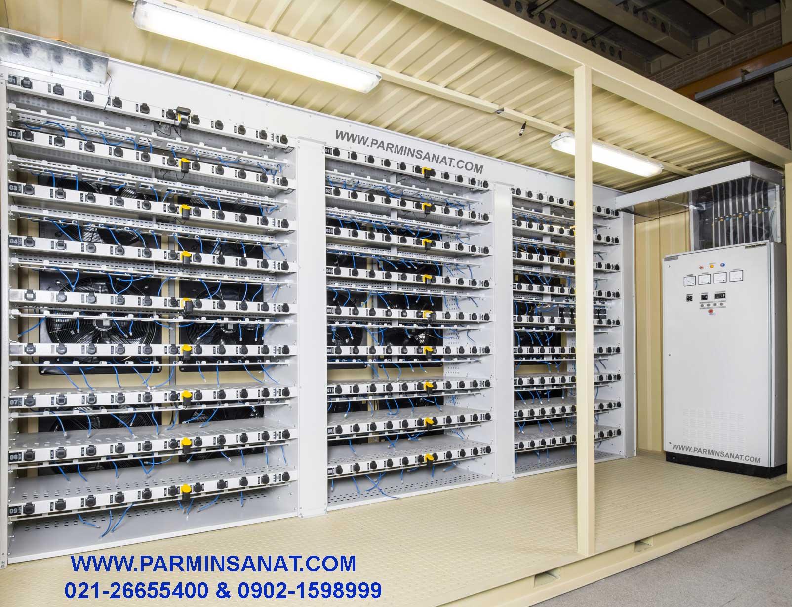 تابلوبرق ماینر و سیستم توزیع برق با باس داکت