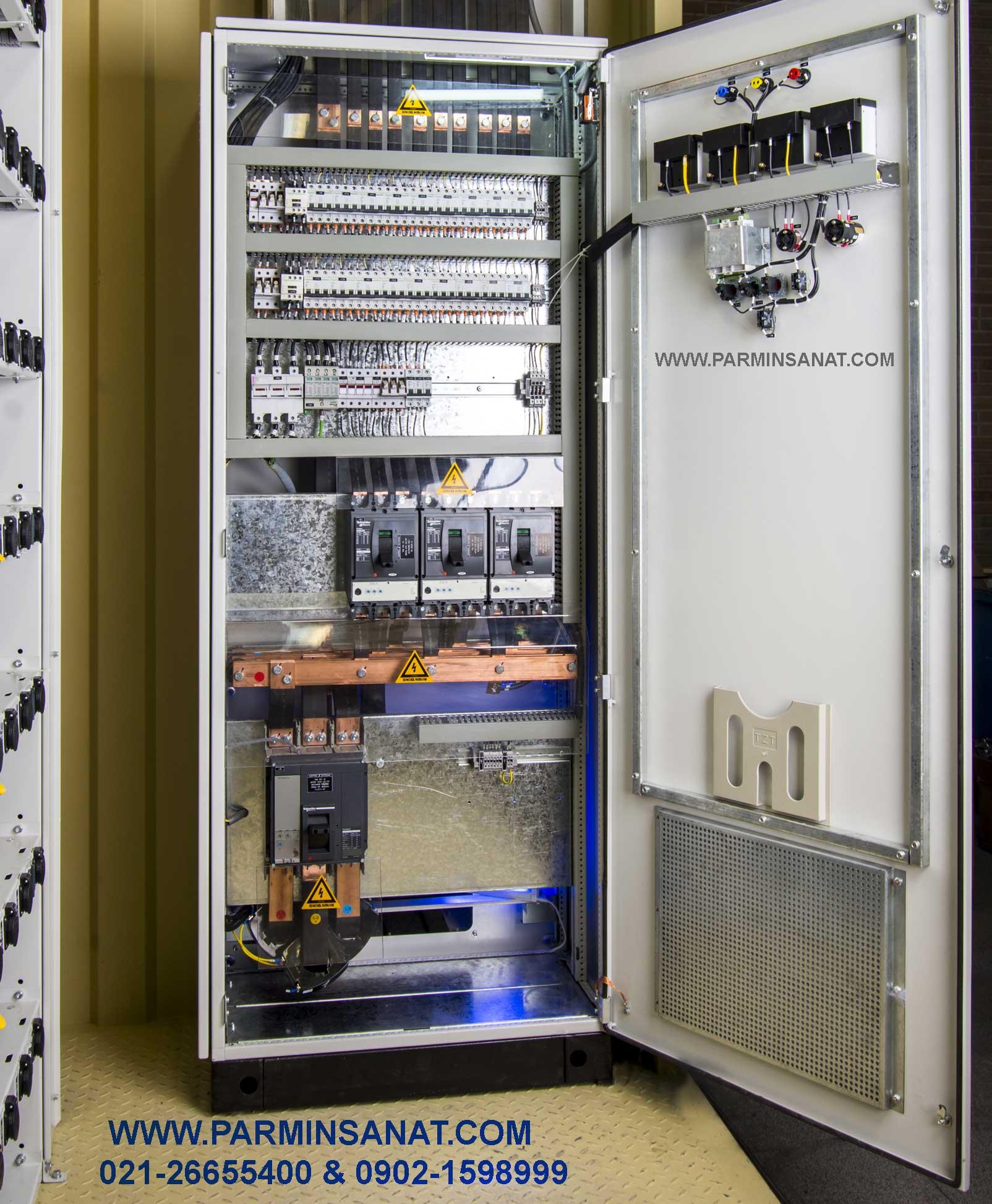 تابلوبرق ماینر با تجهیزات اشنایدر الکتریک فرانسه و سیستم باس داکت توزیع برق(جایگزین کابل)
